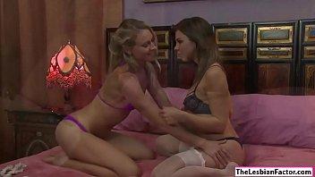 Lena tastes her room mates pussy