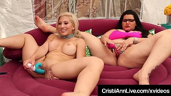 Hot mutual masturbation video - Asian latina cristi ann bangs pussy with bbw angelina castro