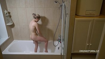Kira in the shower