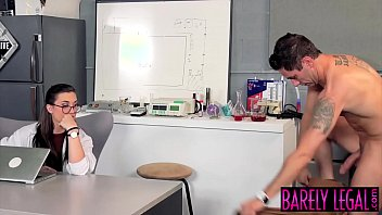 Scientist Kat Monroe gets ass fucked by hung applicants
