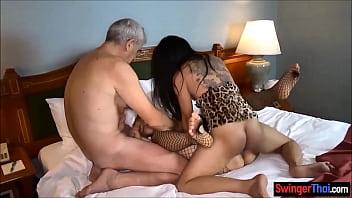 Amateur couple invites ladyboy for a threesome fuck ▶6:00