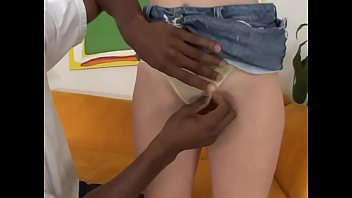 Big booty blonde teen Brandy Dallas enjoys when ebony stud drills her pussy with his big dong