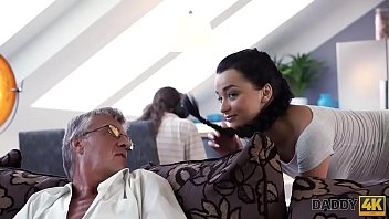 DADDY4K. Horny brunette unleashes all lust on boyfriend's old daddy thumbnail