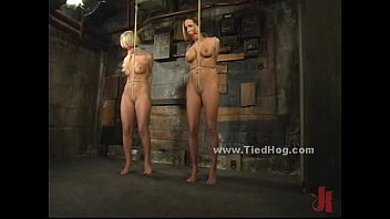 Bound sex scene - Sexy blonde slut immobilized and bound