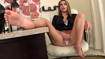 Pathetic Co-worker FootFetish Footworship POV