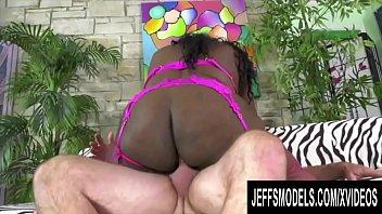 Jeffs Models - Fat Ass Ebony Plumpers Riding White Cocks Compilation Part 1