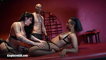 """Big Black Dick Dominates & Fucks Cis and Trans Women In BDSM Threesome   King Noire Jane Marie Avery Jane """"King & The 2 Janes"""""""