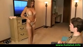 HotWifeRio TANNED MOTHER CATCHES SON JERKING OFF TO HER VIDEO & BANGS