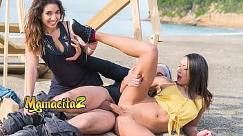CHICAS LOCA - Cassie Del Isla - Sexy French MILF Takes Cock On The Beach