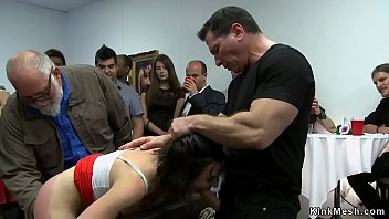 Wet pussy slave fisted in public thumbnail