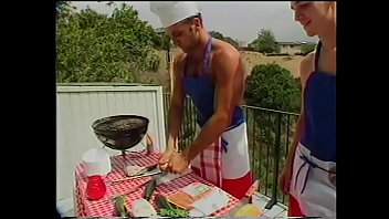 Kanye a gay fish Young gregg clarke helps blond shit-hunter paul morgan to cook sausages and fish frames on barbeque grill