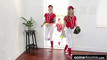 Young and Horny Baseball Babes Fucked Side By Side - Athena May, Lola Leda, Dixie Lynn