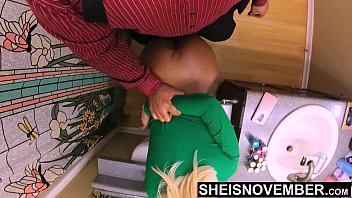 Blonde vaginal intercourse Step daughter pussy feels tighter then her mother, fauxcest tearing msnovember skinny black cunt apart and big butt doggystyle on sheisnovember 4k