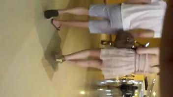 white skirt white pants