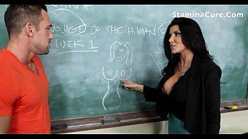 hot big tits teacher fuck her student porn image