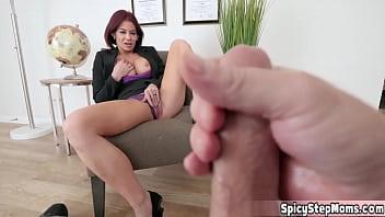 Hot brunette MILF stepmother Ryder Skye taboo scene