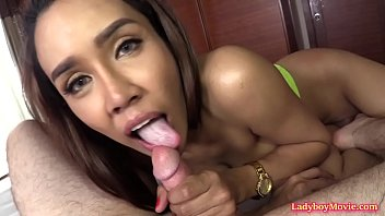 Only real sex shemale store - Ladyboy milk sucking raw dick and riding it