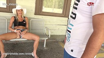 MyDirtyHobby - Hot MILF squirts on a strangers cock in public