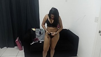 Sarah Rosa the Wonderful Brazilian Pornstar Showing Fan Gift Lingeries