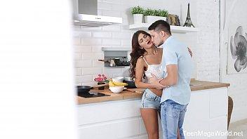 X-Angels.com - Nita Star - Hottie lures lad into kitchen thumbnail