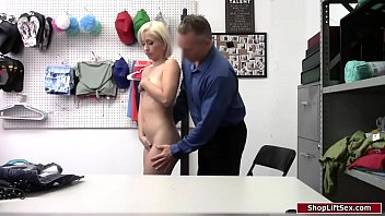 Thief gets her pussy checked then fucked