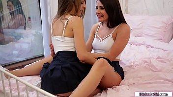 Lesbian teen eating her bffs sweet pussy