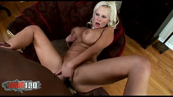Gorgeous Busty Blonde Carly Parker Gets Her Ass Fucked By A Huge Black Cock