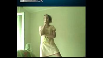 Russian Teen On Skype