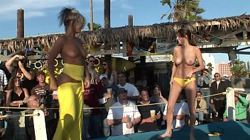 Bikini contestants roxanne Coeds get naked in daytime contest