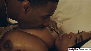 Ebony Maserati giving her guy a titjob 5 min
