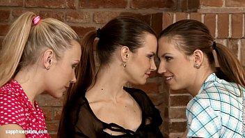 Passionate Threesome by Sapphic Erotica lesbian sex with Klara Juliette Tania