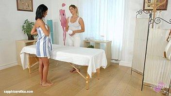 Lesbian anal massage - Mira sunset and vivien bell in sapphic massage lesbians by sapphix