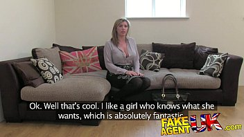FakeAgentUK Brit girl gets spanked, fingered and fucked on casting couch 11 min