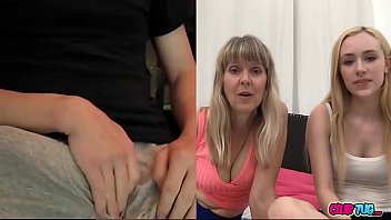 Mom and her Daughter Watching Me Jerk Off on cam thumbnail