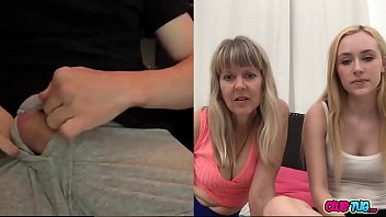 Mom And Her Daughter Watching Me Jerk Off On Cam