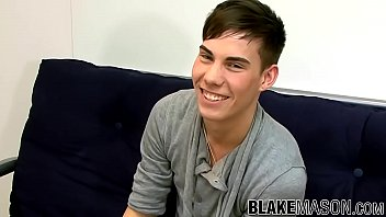 Cute British twink Evan jerking off until cum sprays himself
