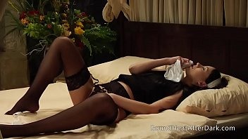 Submissive Lesbian Maid Can't Stop Masturbating In Silk White Panties