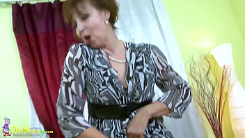 OLDNANNY Mature Lady Dana Lonely Striptease And Natural Body Showoff 10 min