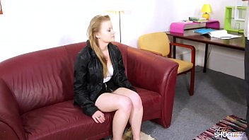 Fakeshooting Shy innocent teen came in wrong door and fucked fake agent