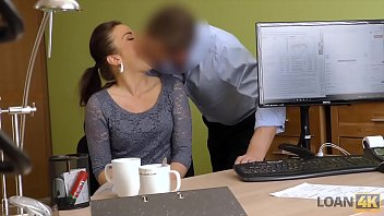 LOAN4K. Agent offers nice girl a good loan for passionate fucking