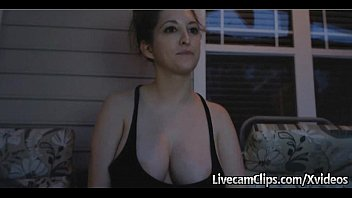 My Hot Busty Neighbor Doing Cam Show At Her Porch Outdoors