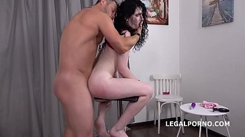 Lesbisn sex trailers Mr. andersons anal casting with black angel ball deep action, atm, rough sex, cum in mouth gl054