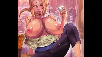 [HENTAI] TSUNADE of NARUTO showing her huge breasts