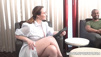 hot therapist takes her patients big black cock up the ass