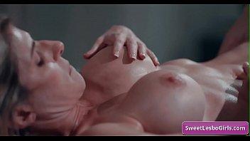 Sexy big tit mature lesbian babes Lena Paul, Sinn Sage in deep pussy licking for intense orgasms