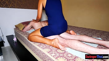 Dirty amateur Thai massage with a wild blowjob and sex 6 min
