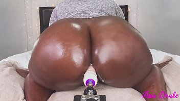 Ebony fat booty fucked - Bbw breaking in the new toy with tight pussy