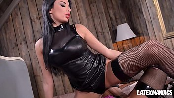 Kinky Latex Dominatrix Anissa Kate Gets Ass Fucked By Her Crossdressed Man