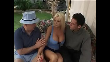 Lori Pleasure busty blonde fucked by 2 strangers until she falls in love whit their dicks and cum making sure to suck them dry