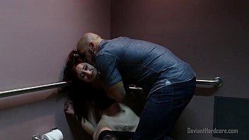 Rough sex with redhead in public bathroom 6 min